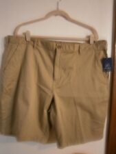 NEW MEN'S STRETCH  FLAT FRONT SHORTS SIZES 42,44,46 IN 4 COLORS.