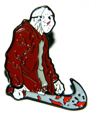 Friday The 13th, Jason Figure with Machete Metal Enamel Pin -new