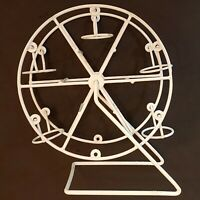 "Ferris Wheel Votive Candle Holder 9.5"" VTG Metal Country Farmhouse Decor AS IS"