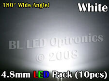 10x Ultra Wide Angle 4.8mm/5mm LED Pack PCB Kit White