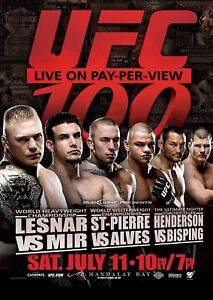 A5 Stampa – UFC 100 Lesnar st-Pierre Bisping Mir (Foto Mma Misto Marziale)