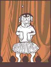 "MARK DANCEY Artist Dancing Dog Print Serigraph Silkscreen Edition 30 11""x14"""