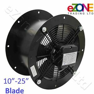 Industrial Cased Axial Fan Commercial Kitchen Canopy Duct Extractor Air Blower