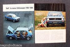 BF41 - Clipping-Ritaglio -1974- AUTONOTIZIE , NUOVA VOLKSWAGEN GOLF 1100/1500