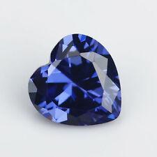 6X6mm AAAAA Blue Sapphire Gems 1.23ct Heart Faceted Cut VVS Loose Gemstone