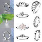Brand Design Zircon Silver Fashion Woman Wedding Rings New 925 Jewelry Size 5-9