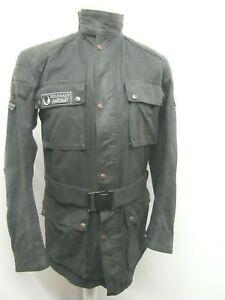 VINTAGE 80'S BELSTAFF TRIALMASTER PRO WAXED COTTON MOTORCYCLE JACKET SIZE L