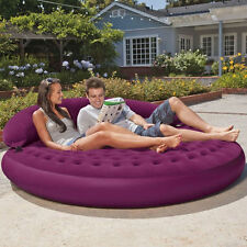 Patio & Garden Inflatable Lounger Outdoor Relax Round DayBed Lounge Air Mattress