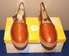 Yellowbox Winsome Espadrille Flat Sandal Womens Shoe TAN Size 8 Open Slingback