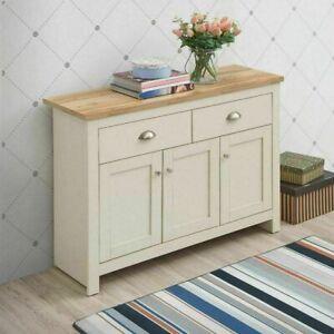 TAD | Lisbon Cream Oak Sideboard 3 Doors 2 Drawers Buffet Storage Cupboard