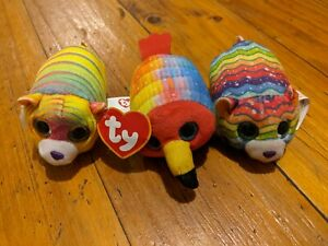 3 TY Collectable Happy Meal Toy Animals Sparkle Eyes