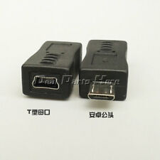 2x Mini USB Female to Micro USB Male Adapter Charger Converter Adaptor M475