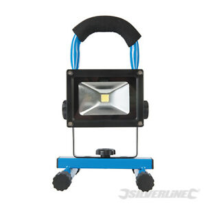 Rechargeable Portable 5W COB LED Site Light with handy, stable all-steel stand.