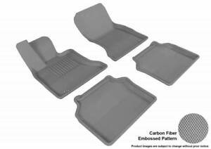 3D MAXpider 2010-2013 Fits BMW 5 Series Gran Turismo 1st 2nd Row Floor Mat Gray