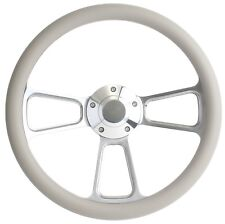 1984-1988 - Ford Cars - Polished Billet & Grey Steering Wheel & Horn!!