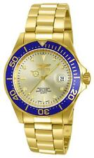 Invicta Men's Pro Diver Analogue Quarz Watch with Gold Plated Strap 14124
