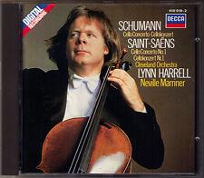 Lynn Harrell: Saint-Saens Schumann Cello Concerto No. 1 Neville Marriner DECCA CD