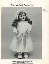 "VTG Reproduction Wardrobe Byron Doll Pattern JDK-237 ""Big Sister Hilda"" 24"""