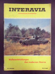 """RIVISTA """"INTERAVIA"""",N°2.1965 WAFFENENTWICKLUNGEN DES MODERNEN HEERES"""
