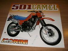 Moto Morini  501 CAMEL   (brochure-depliant -Folded -prospekt)