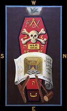 Masonic Master Mason 3 third degree art print poster ring Tracing Trestle Board