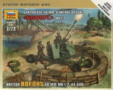 ZVEZDA 6170 WW2 BRITISH BOFORS 40mm MK 1/2 ANTI-AIRCRAFT GUN 1/72 SCALE