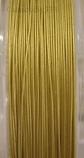 5 Meter x TIGER TAIL M. GOLD BEADING TIGERTAIL WIRE 0.4mm