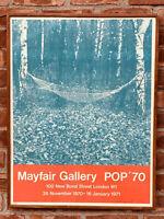 James Rosenquist Original Signed Exhibition Poster. Mayfair Gallery London 1970