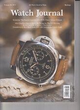 Watch Journal Volume 20, No 5 October/November 2017 Cartier Tank/Chrono Flyback