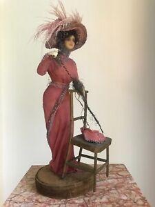 Antique Wax fashion doll, Lafitte Desirat 1909