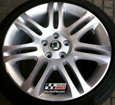 R263DC EXCHANGE Yours 4 Ours SKODA SUPERB 4x 18'' GENUINE THEMISTO ALLOY WHEELS