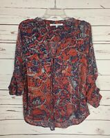 Collective Concepts Stitch Fix Women's Petite Medium MP Button Top Shirt Blouse