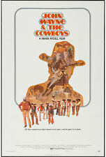 THE COWBOYS original 1972 27x41 one sheet movie poster JOHN WAYNE