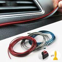 Rosso 5M Fai da Te Auto Interno Decorazione Porta Adesivo Modanatura Styling
