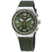 Swatch Forest Grid Chronograph Quartz Green Dial Watch YVS462