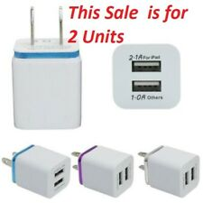 10 Watt USB wall Fast Charger Adapter 1A 2A 5V with 2 ports(Sale is for 2 units)