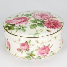Jewellery box - Porcelain jewelry trinket Box Jar - Rose shabby chic- Keys - NEW