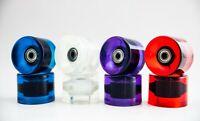 New  (Set of 4) 60mm 78A PU Skateboard Wheels Cruiser Rollen (White)