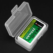 Portable Hard Plastic Case Holder Storage Box for 1 Piece 9V Battery