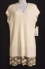 NWT BAILEY 44 Cream Over The Rainbow Knit Leather Dress XS Retail Value $370