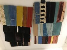 Yards Of Various Vintage Velvet And Grosgrain Ribbon
