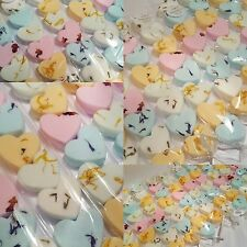 100 mixed MINI LOVE HEARTS  bath bombs wholesale bulk wedding Baby shower