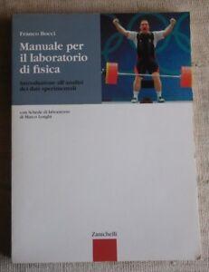 Manuale per il laboratorio di fisica - Franco Bocci - Zanichelli