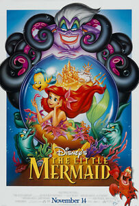 """""""THE LITTLE MERMAID"""" Movie Poster [Licensed-NEW-USA] 27x40"""" Theater Size  (Alt2)"""