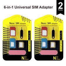 Universal SIM Card Adapter Nano Micro Mini To Standard iPhone Samsung (2 packs)