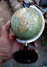 Vintage 1930s Small Globe Wooden Base - Columbus Globe