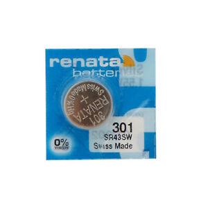 301 / 386 / SR43SW Renata Silver Oxide Button Battery