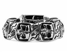 Ship From US Gothic Rocker Biker SKULL Links 316 Stainless Steel Bracelet Chain