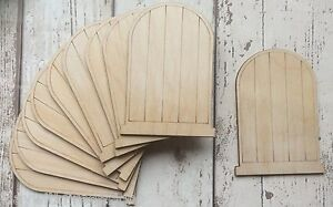 100 laser cut wooden fairy faerie elf doors bulk unpainted with engraved lines