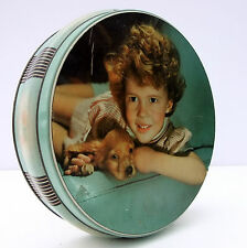 Vintage 1950s Jacob Biscuits Tin Girl Puppy